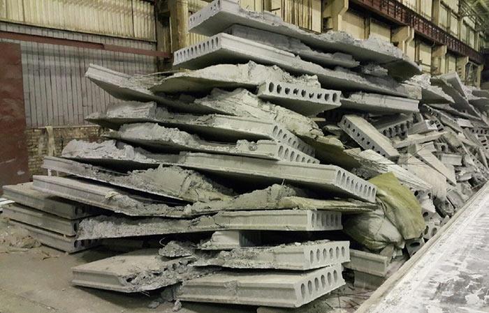 Строительный бетонный лом